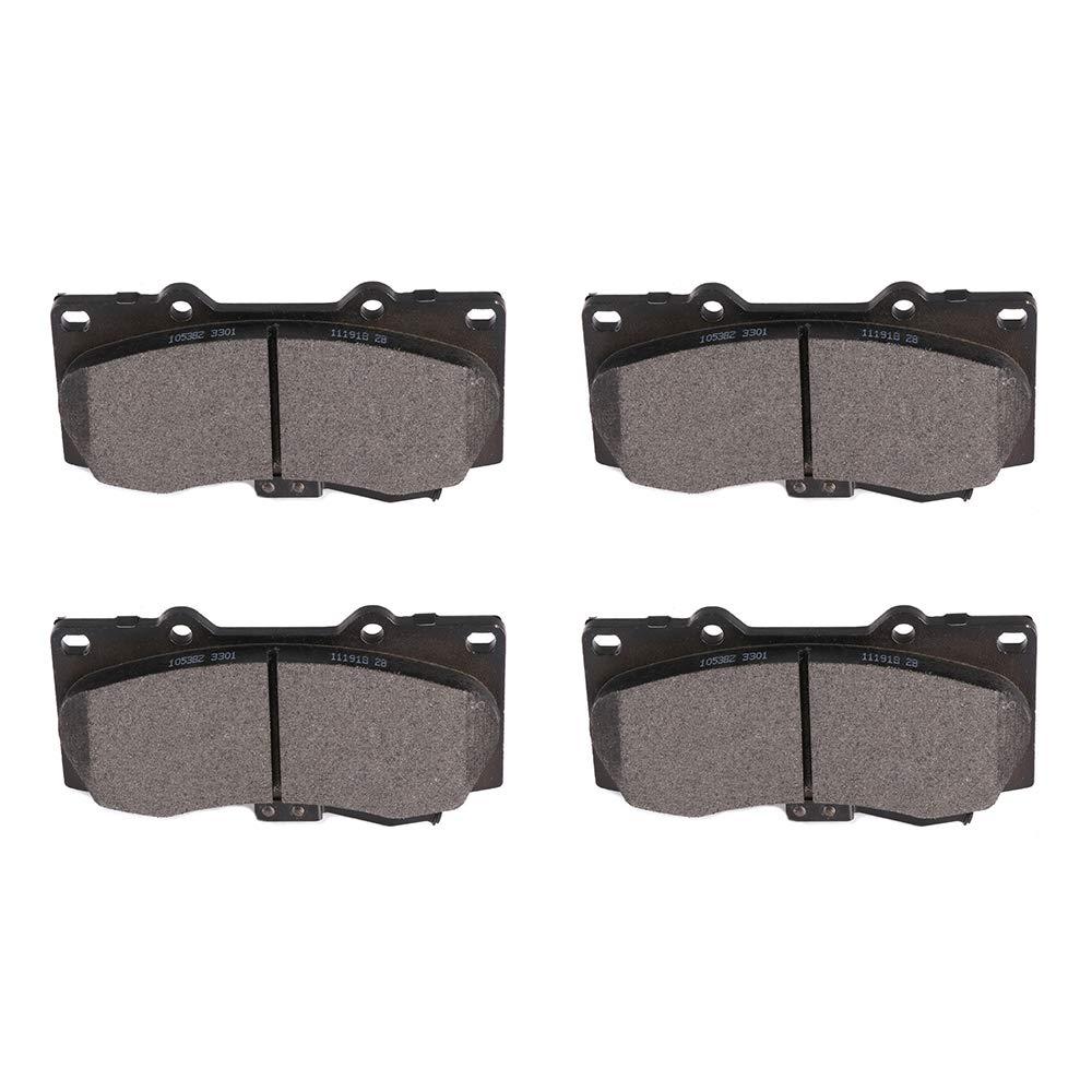 Amazon.com: ECCPP Brake Pads, 8pcs Front Ceramic Disc Brake ... | hummer h3 brake pads