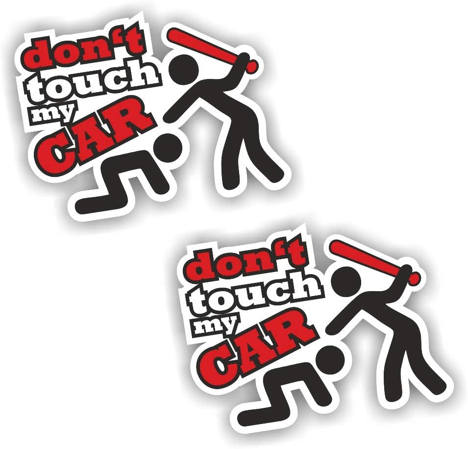 Folien Zentrum 2x Dont Touch My Car Aufkleber Shocker Hand Auto Jdm Tuning Dub Decal Stickerbomb Bombing Sticker Illest Dapper Fun Oldschool Auto