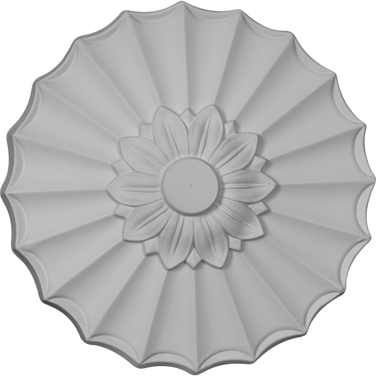 Ekena Millwork CM09SH 9-Inch OD x 1 3/8-Inch Shakuras Ceiling Medallion