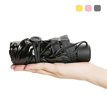 Super Mini Paraguas, CAMTOA Paraguas Plegable, Ultra Protector (99% UV Resistencia &100