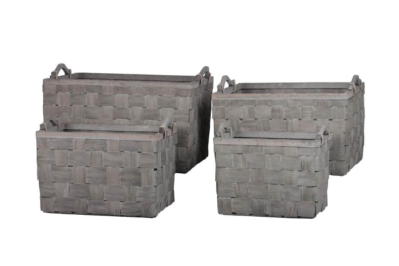 Urban Trends Collection UTC58702 Wood Basket Finish Gray