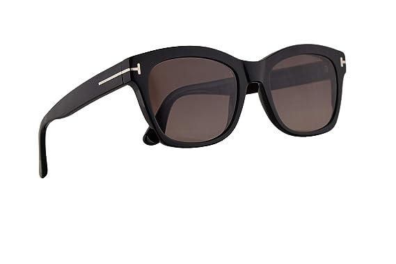 8e171562da53f Amazon.com  Tom Ford FT0614 Lauren-02 Sunglasses Shiny Black w ...