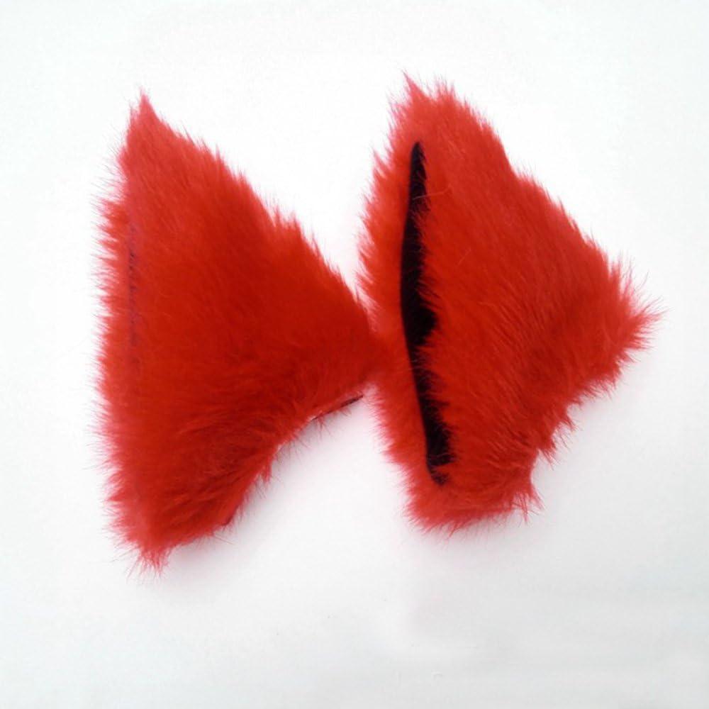ONECHANCE Orejas de zorro cosplay oreja de gato diadema Catwoman disfraz de Halloween Carnaval