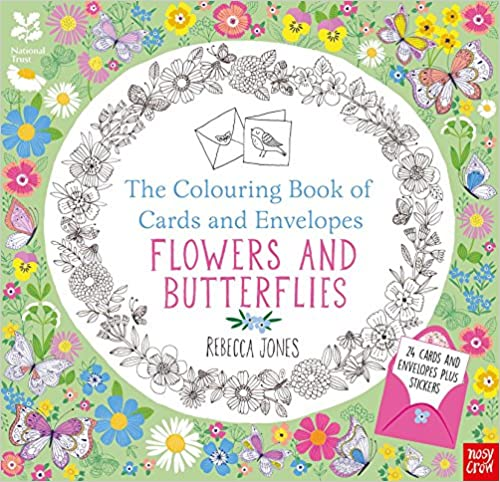 National Trust: The Colouring Book Of Cards And Envelopes   Flowers And Butterflies (Colouring Books Of Cards And Envelopes) by Amazon