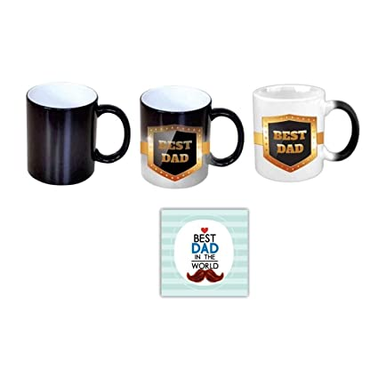 Buy Giftsmate Birthday Gifts For Father Best Dad Black Magic Mug Coaster Set Of 2 Online At Low Prices In India Amazon In