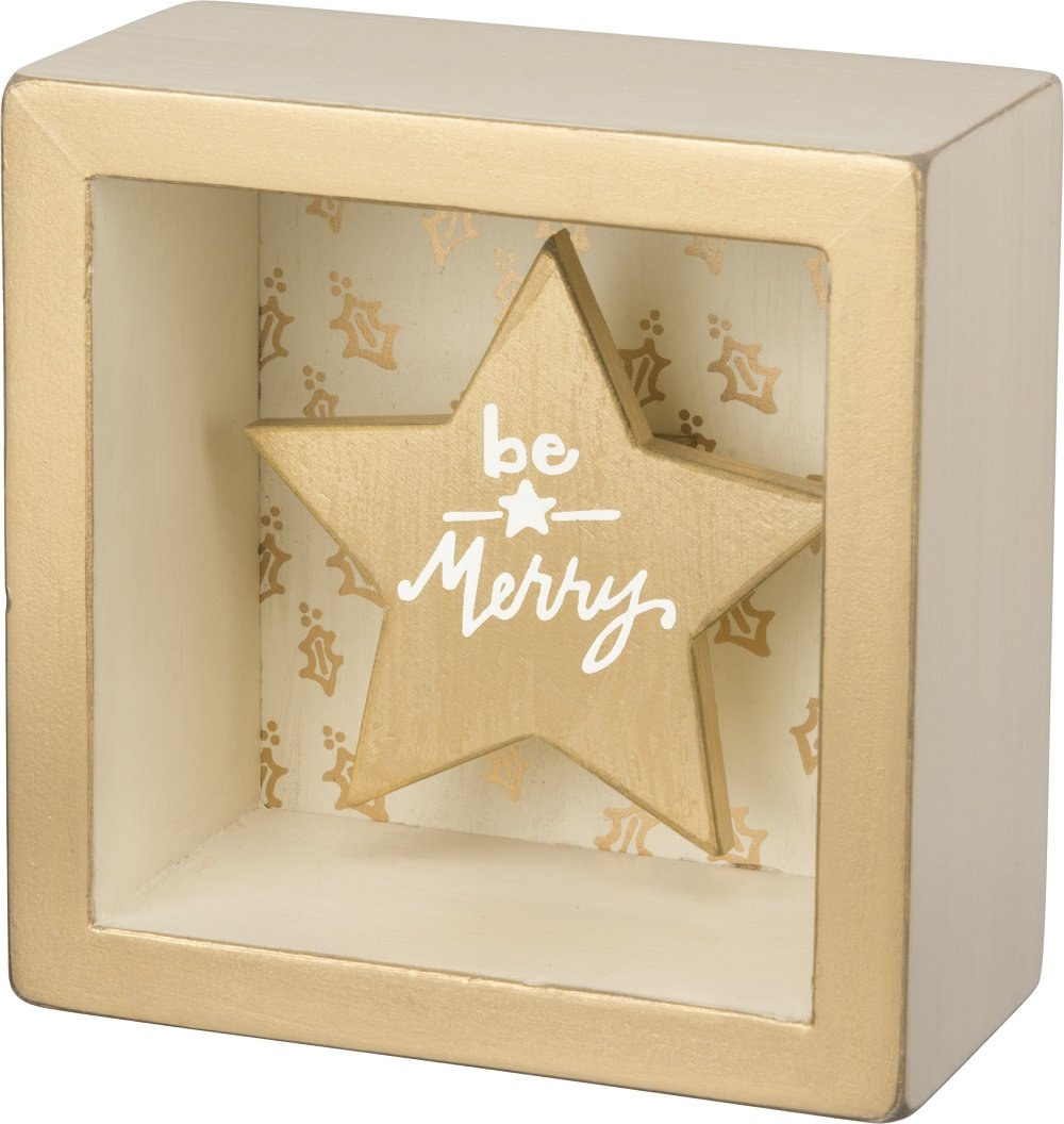 Primitives By Kathy Box 3.50 Inches Square Star Sign Home Decor Accents