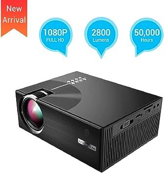 UKSoku Mini Proyector Portátil 2800 Lúmenes Multimedia Proyector ...