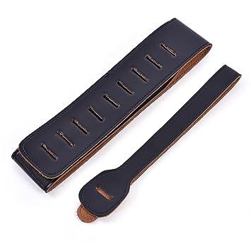 Correa para Guitarra - Correa de Cuero PU Ajustable para Guitarra Eléctrica y Clásica (Color : Negro) : Amazon.es: Instrumentos musicales