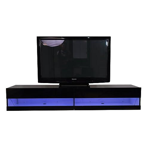 Fernsehschrank lcd  Homcom® TV Lowboard LED Fernsehtisch TV Board Fernsehschrank mit ...