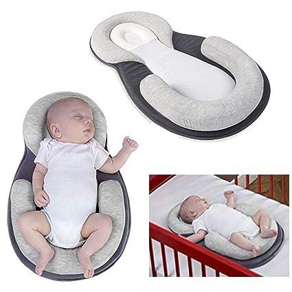 fervory Almohada para Bebé Almohada para Bebé Recién Nacido Almohadilla De Posicionamiento para El Sueño Cojín Anti-Forma para La Cabeza Cojín para ...