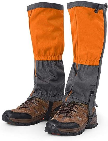 orange AimdonR Bein Gu/êtres de neige /étanches 600D Anti-Tear Oxford Tissu en Plein Air Imperm/éable Snow Bon Gu/êtres de Snow Randonn/ée Chasse Escalade Berg