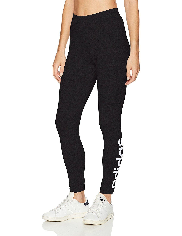adidas Women's Athletics Essential Linear Tights, Black/White, X-Large