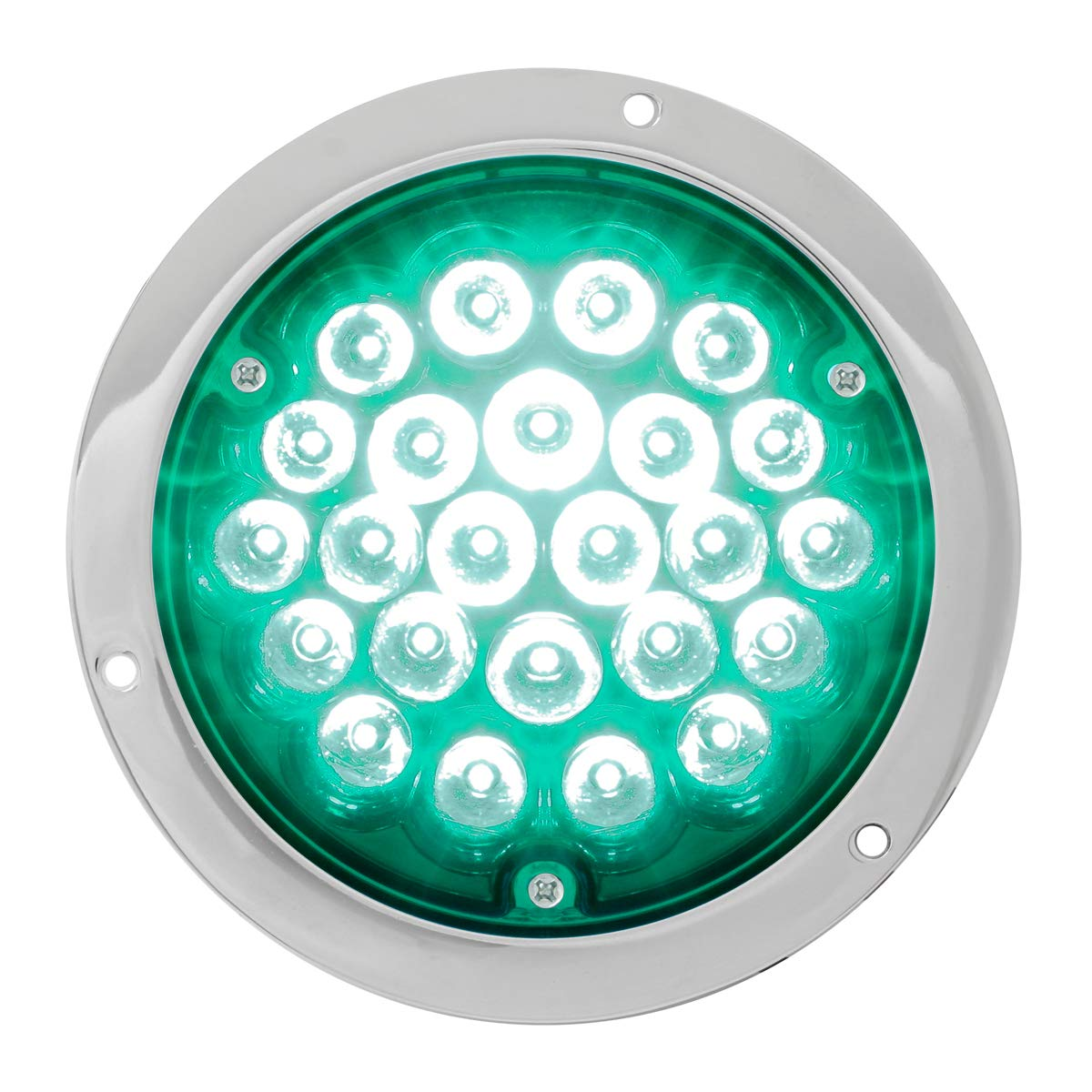 GG Grand General 82274 Green//Green LED Light 4 Pearl 24 with Clear Die Cast Housing