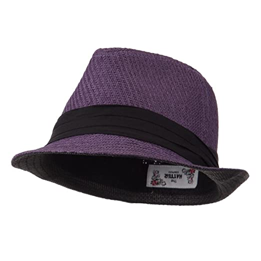 20988bb45 Toyo Fedora Hat with Black Band - Purple W19S48F