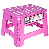 Amazon Price History for:Acko 9 Inches Pink Folding Step Stool with Anti-Slip Surface for Kids and Adults with Handle, Holds up to 250 LBS (Pink)