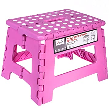 Acko 9 Inches Pink Folding Step Stool with Anti-Slip Surface for Kids and Adults  sc 1 st  Amazon.com & Amazon.com : Acko 9 Inches Pink Folding Step Stool with Anti-Slip ... islam-shia.org