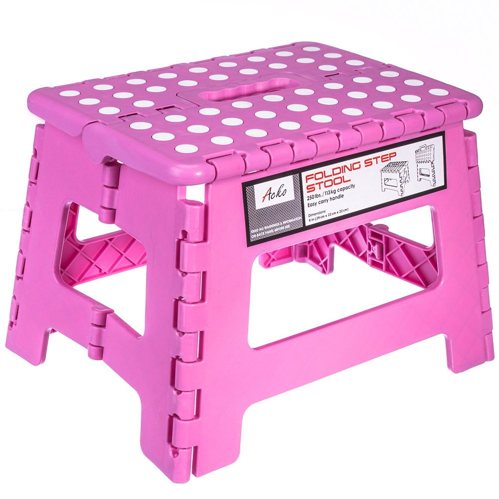 Amazon Com Folding Step Stool 9 Inch Height Premium