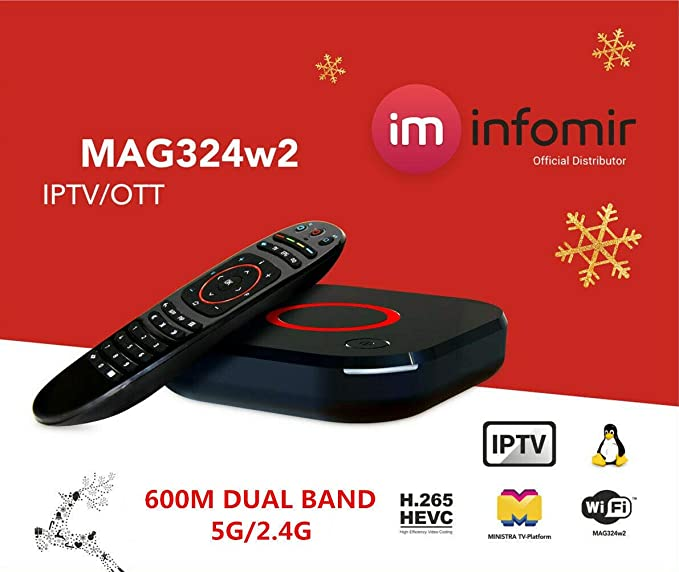 Built-in Dual Band WiFi + HDMI Cable Genuine Infomir MAG 324 W2 ...
