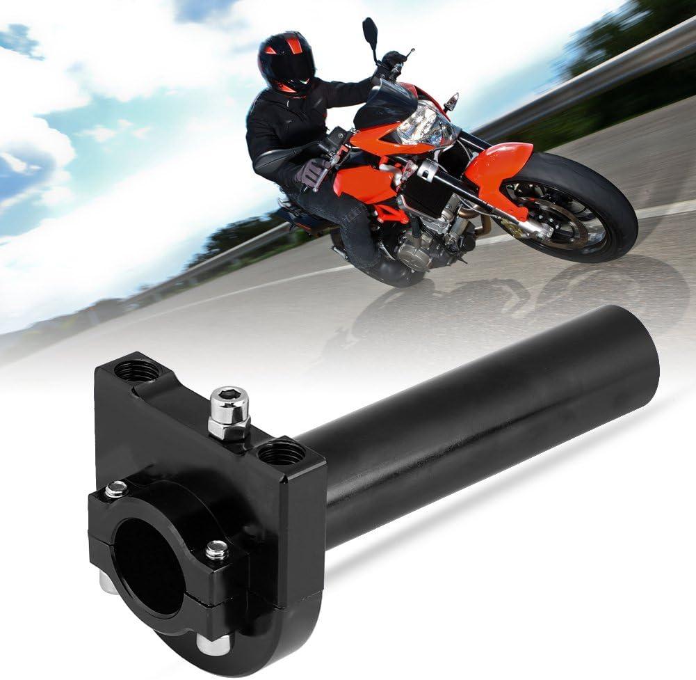 Qiilu Universal Gasdrehgriff 7//8 22mm Lenker Gasdrehgriff Accelerator f/ür Motorrad Scooter Dirt Bike Gold
