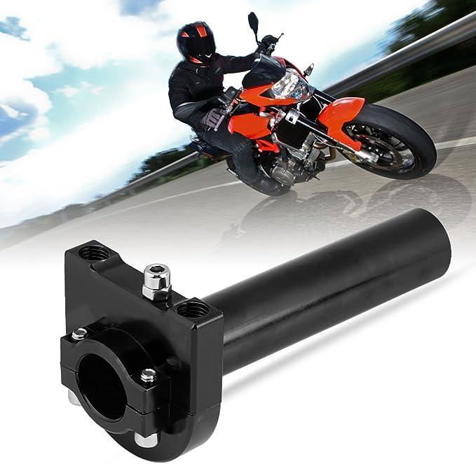 KIMISS Universal Throttle Twist Grips,7//8 22mm Handlebar Throttle Twist Grips Accelerator for Motorcycle Scooter Dirt Bike Red
