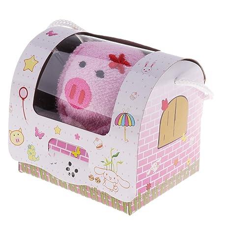 MagiDeal Toalla de Forma Animal Lindo para Bebés Juguetes Educativos Decoración de Habitación - Cerdo hembra