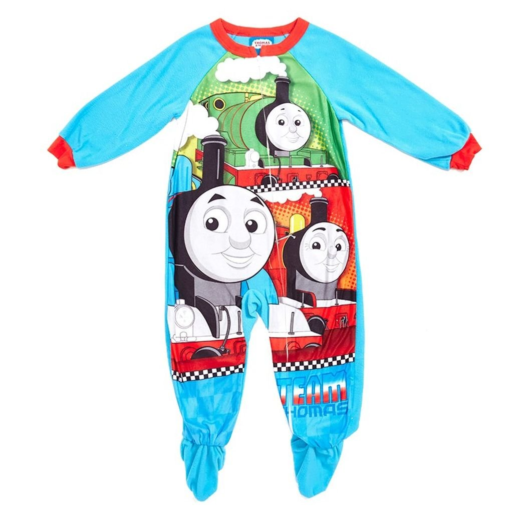 AME Boy's 4T Thomas Friends Team Thomas Fleece Footed Blanket Pajama Sleeper