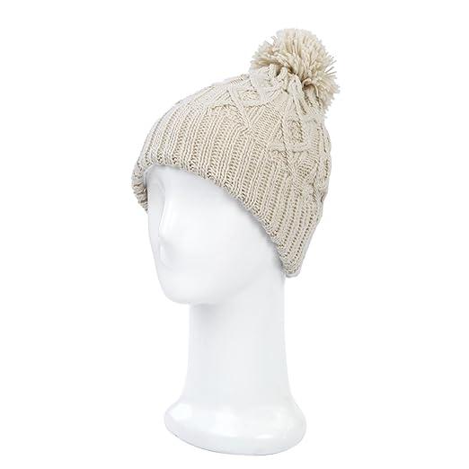 c52aa247648f5 Premium Thermal Dual Layer Diamond Knit Winter Beanie Hat w  Pom Pom ...