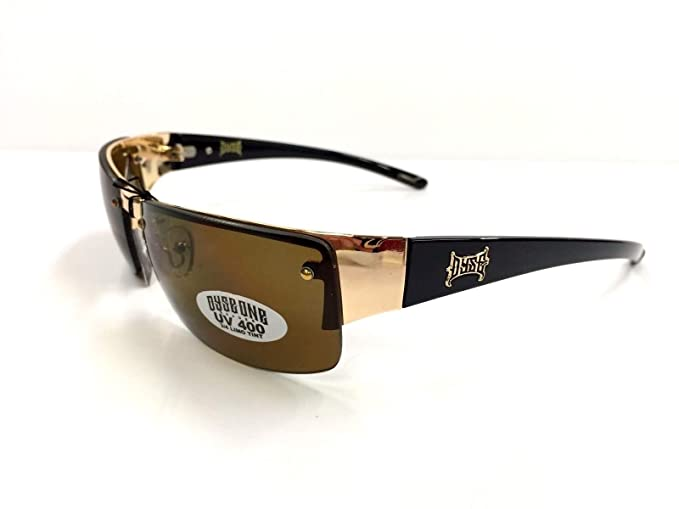 Authentic Dyse One Shades Del Rio Gold Brown Metal Sunglasses Cali Lowrider Style