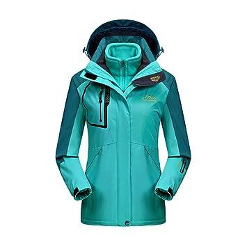 92ef49275ce9d7 iBaste Outdoorjacke Damen Regenjacke mit Kapuze Softshelljacke damen  Bergsteiger Jacke Wasserdicht atmungsaktiv Wanderjacke