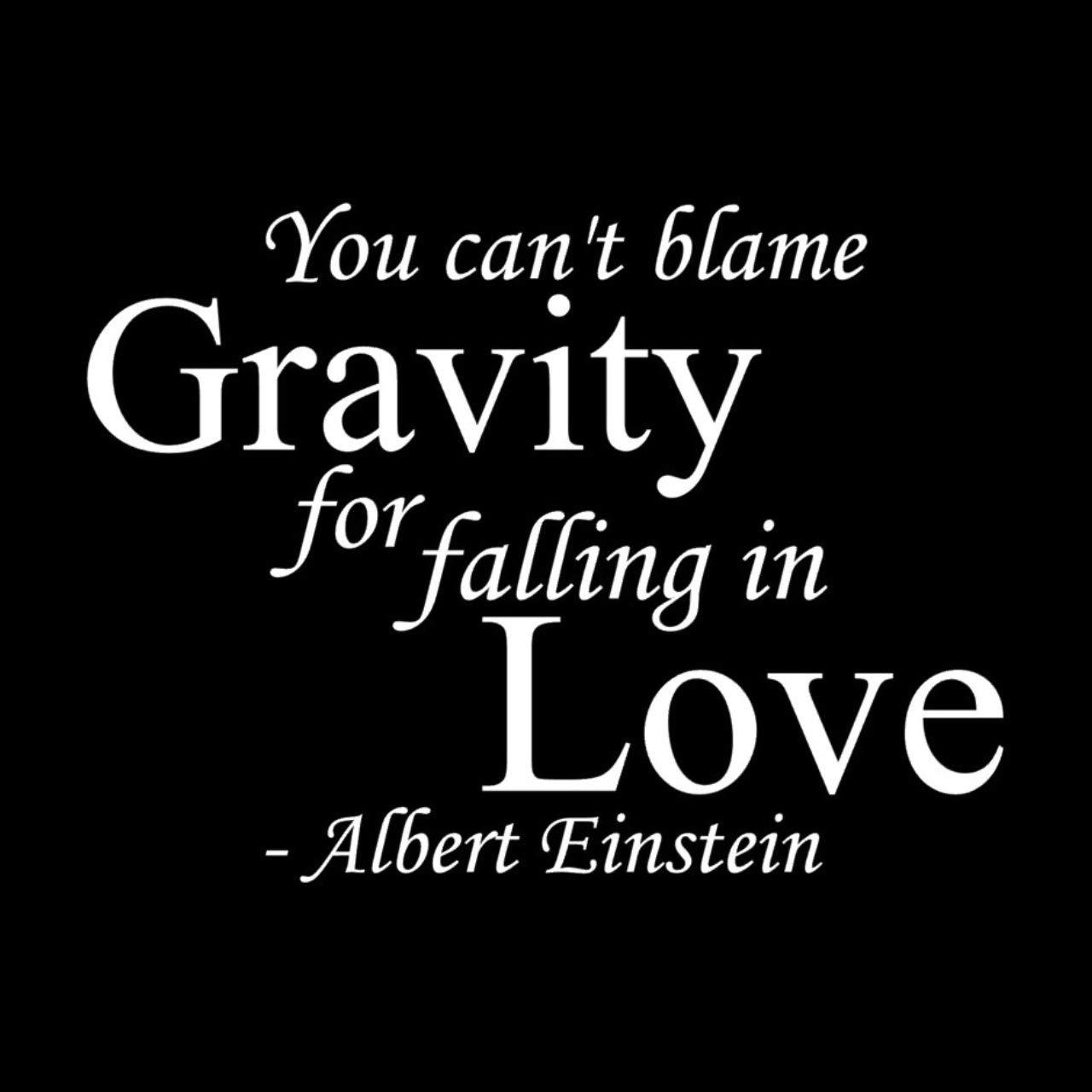 Amazon アインシュタイン 名言 You Can T Blame Gravity For Falling