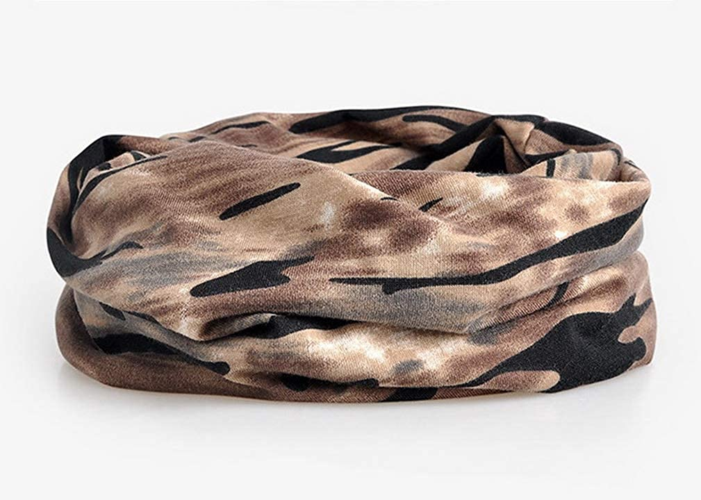 COMVIP Adults Camouflage Slouchy Stretch Baggy Beanie Infinity Scarf
