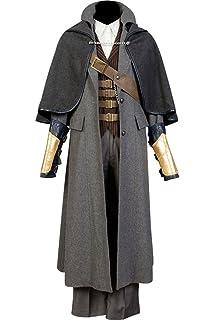 Amazoncom Miccostumes Mens Bloodborne The Hunter Cosplay Costume