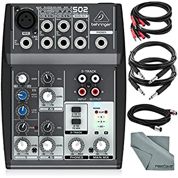 behringer xenyx 502 5 channel audio mixer and accessory bundle w 5x cables and. Black Bedroom Furniture Sets. Home Design Ideas