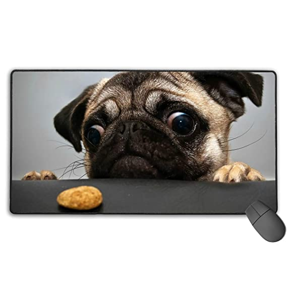 273d328fb5a5 Amazon.com: Pug-Dog Mouse Pad,Mouse Mat with Anti-Fray Stitched ...