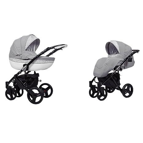 Cochecito Cochecito Buggy estructura de ruedas neumáticas, Auto asiento Isofix Base aluminio negro lavado 4