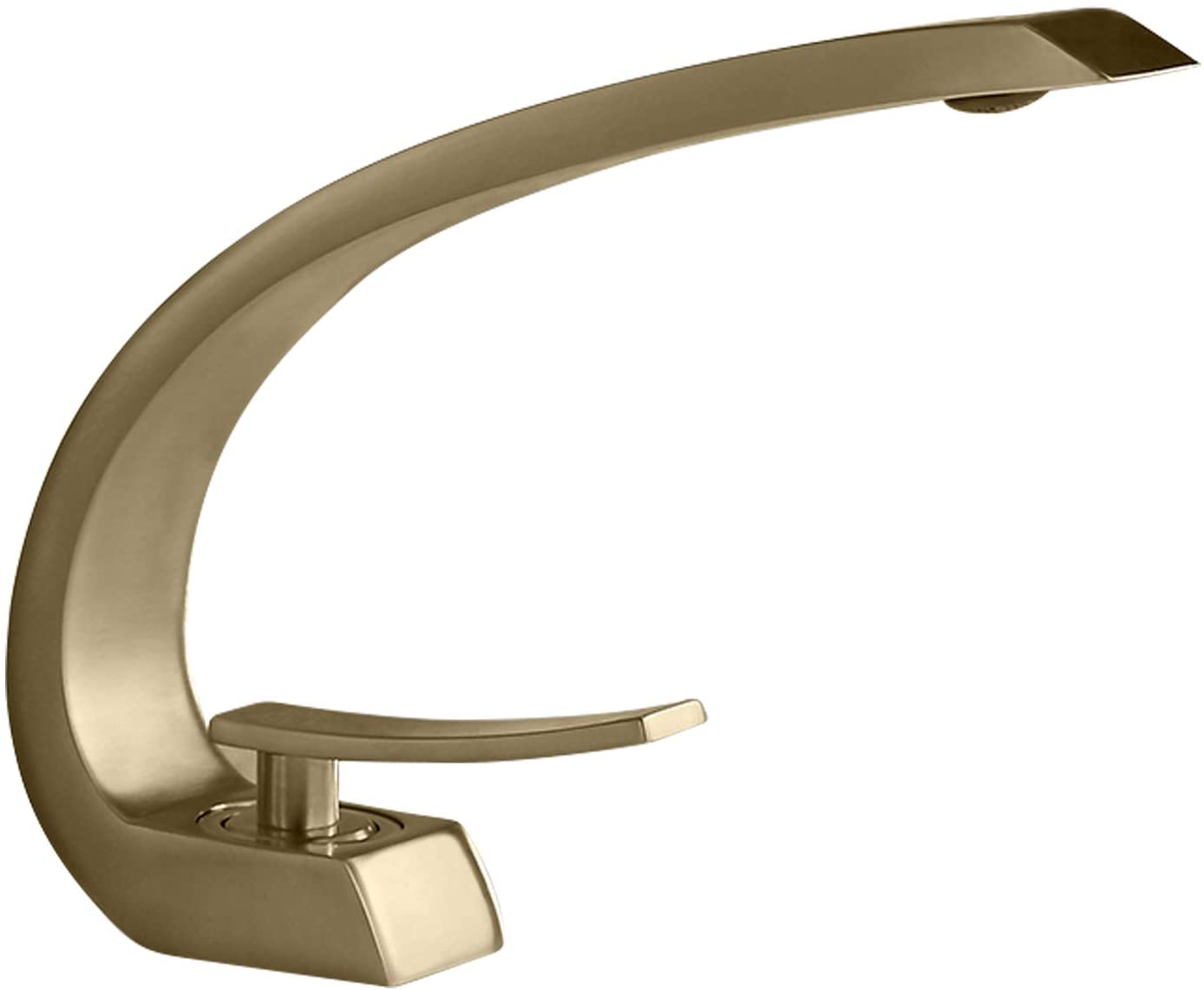 Homary 1 Handle Bathroom Sink Faucet With Pop Up Drain Cupc Certified Lead Free One Hole Deck Mount Curved Lavatory Faucet Mixer Solid Brass Brushed Gold Touch On Faucets Amazon Canada