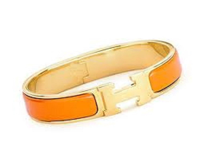 バックルバングルブレスレット。 B00JSIKLE0 12mm-gold/orange 12mm-gold/orange