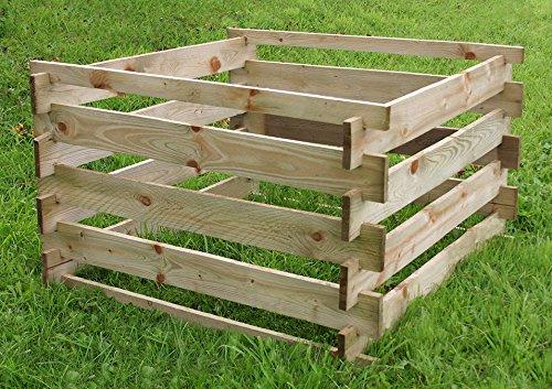 Aspecto Natural de madera Tacho - par - fácil de montar o ...