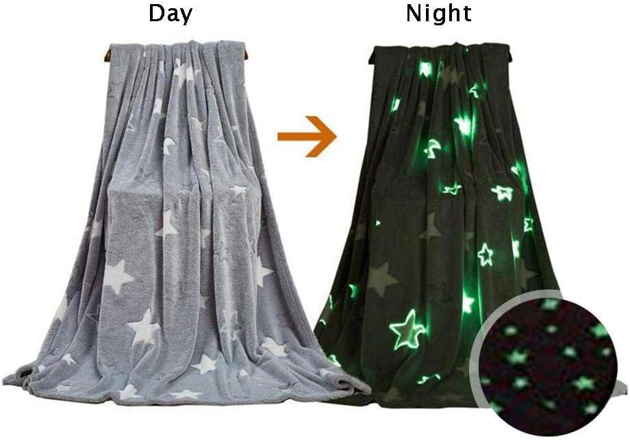 Fleecedeken met oplichtende sterren en maan
