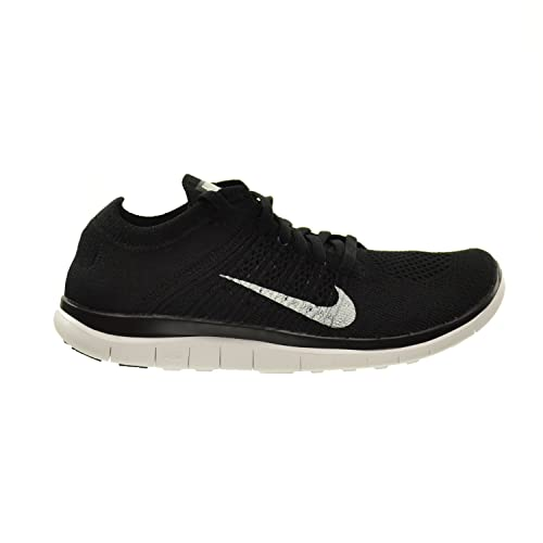 87d68343eabf0 Nike Free 4.0 Flyknit Women s Shoes Black White-Dark Grey 631050-001 ...