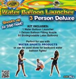 Water Sports Deluxe 3-Person Water Balloon Launcher Sling Shot Kit