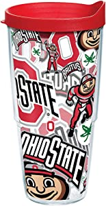 Tervis NCAA Ohio State Buckeyes All Over Tumbler With Lid, 24 oz, Clear