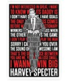Lab No. 4 I'm Not Interested In Great Harvey Specter Inspirational Quote In A3 Size Poster