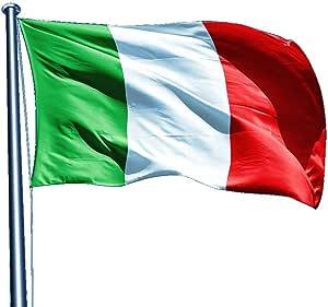 Italy 5x8 ft Nylon Sewn 300D Flag, New