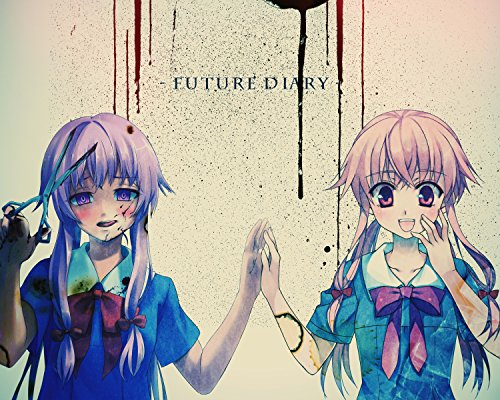 Future Poster Diary Hot Anime Aru Yuno Japan Wall Art 16x20 Inches