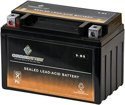 Chrome Battery YTX9-BS High Performance-Maintenance Free-Sealed Motorcycle Battery