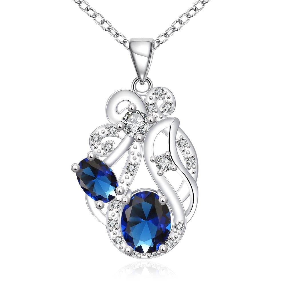 myazs8580 N111-A Silver Plated Necklace Pendant Necklaces Jewelry for Women