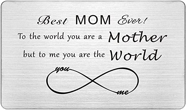 Personalised Mum Best Friend Metal Wallet Card Birthday Mothers Day Gift Present
