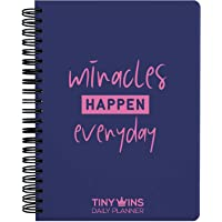 TinyChange TinyWins Daily Planner Schedule Your Day, Achieve Goals, Manage to-do List and Track Wellness A5 Size, Undated for 6 Months, Hardcover with Paper