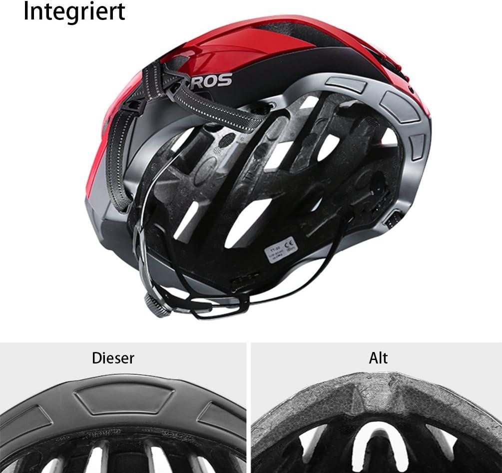 ROCKBROS Casco de Bicicleta Adulto para Ciclismo MTB 57-62 cm ...